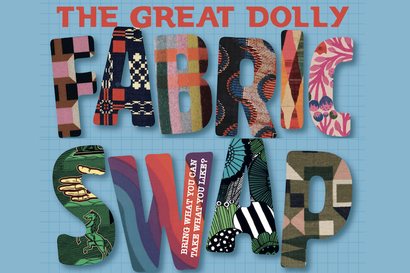 The Great Dolly Fabric Swap and the Dolly Skill Swap